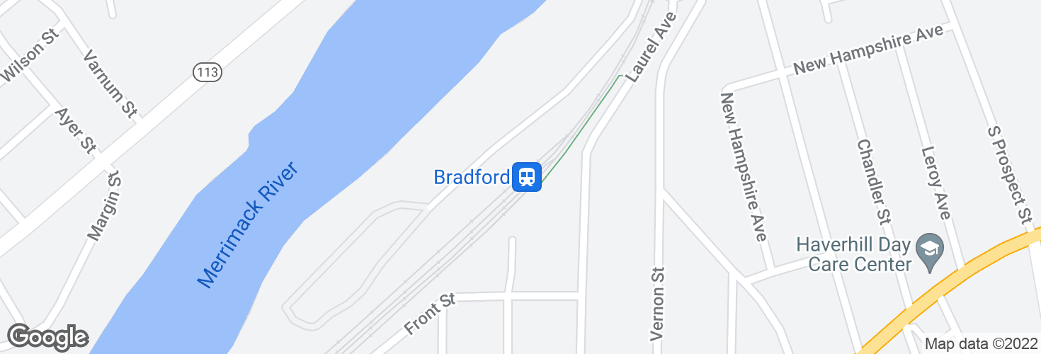 Map of Bradford and surrounding area