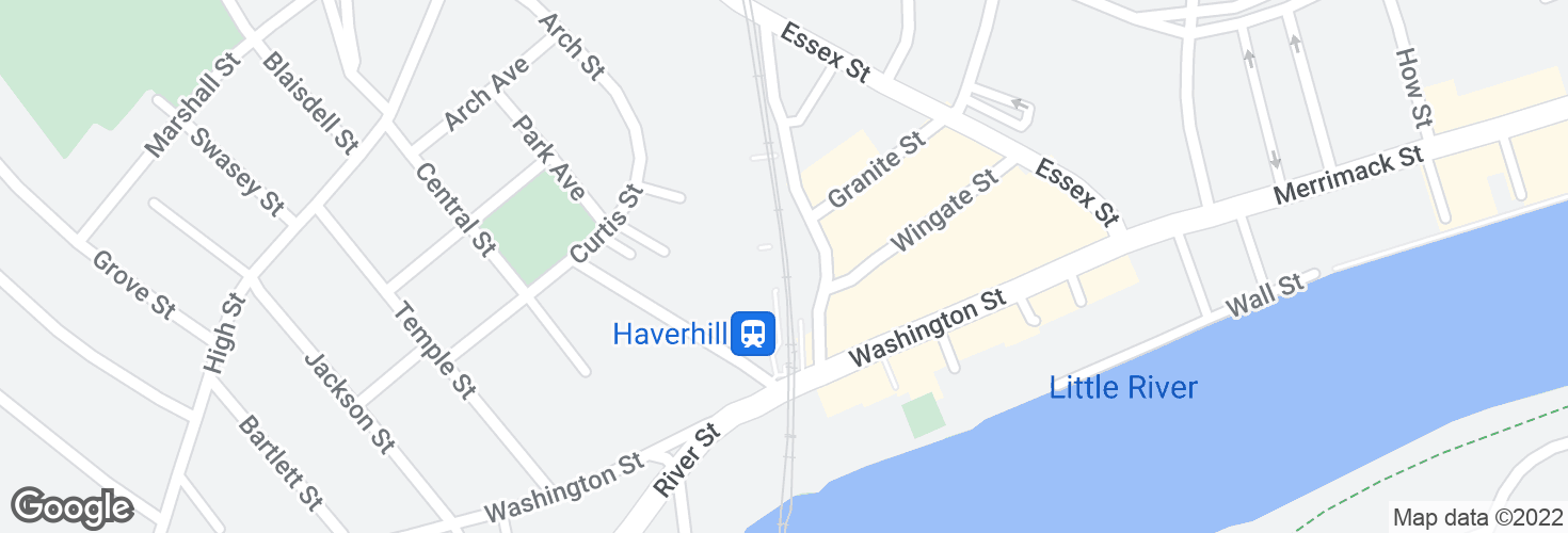 Map of Haverhill and surrounding area