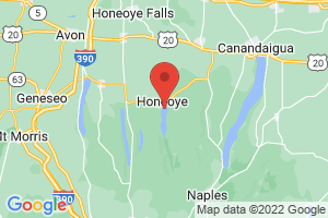 Map of Honeoye Lake