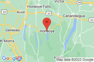 Map of Honeoye
