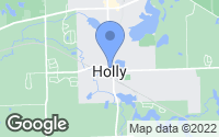 Map of Holly, MI