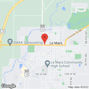 Map of Verizon Authorized Retailer - TCC at 10 Fifth Ave. NW, Le Mars, IA 51031