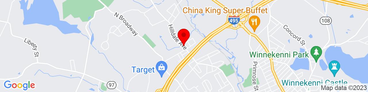 Google Map of 42.7946231, -71.1087451