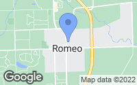 Map of Romeo, MI
