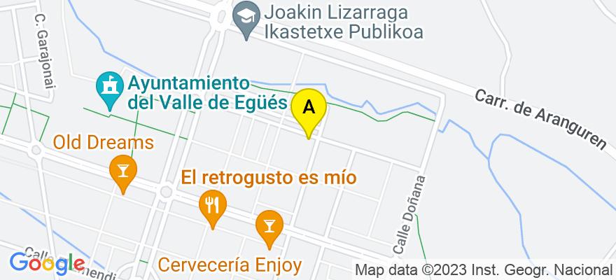 situacion en el mapa de . Direccion: C/ Urbasa 16 2A, 31621 Egüés. Navarra