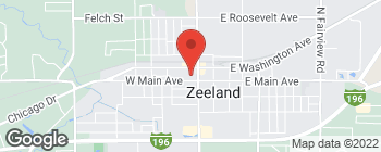 Map of 26 N State St in Zeeland