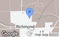 Map of Richmond, MI