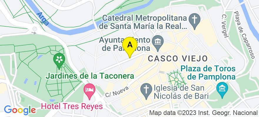 situacion en el mapa de . Direccion: Calle Mayor nº 10-12, Oficina nº 12., 31600 Burlada. Navarra