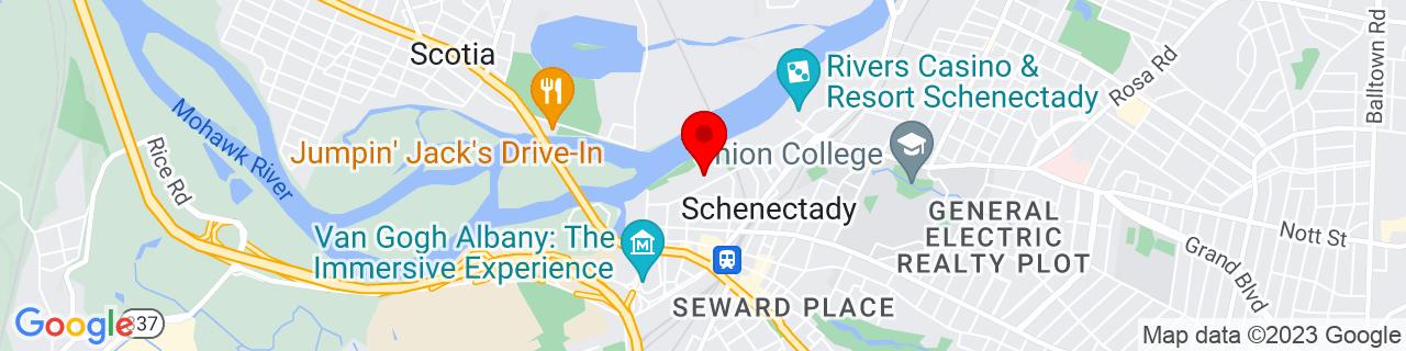 Google Map of 42.81942000000001, -73.944611