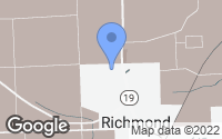 Map of Richmond, MI