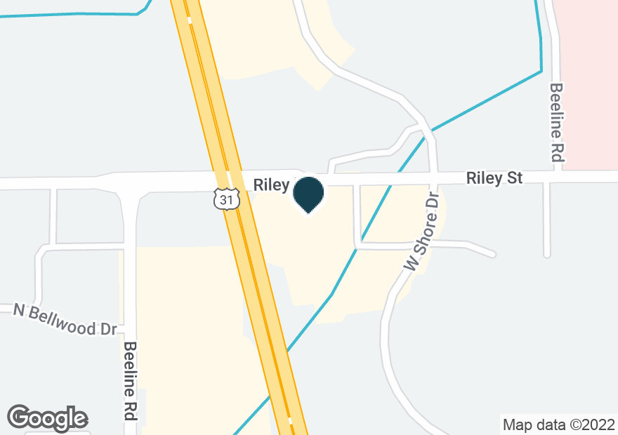 Google Map of12576 RILEY ST