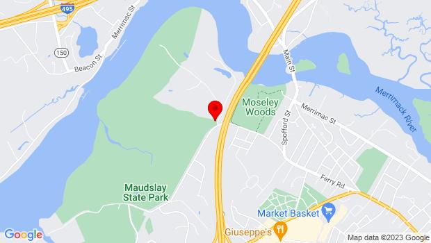 Google Map of 1 Spring Ln, Newburyport, MA 01950