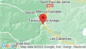 Carte de localisation du centre de contrôle technique TARASCON SUR ARIEGE