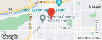 Map of 823 S Center St in Casper
