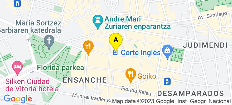 situacion en el mapa de . Direccion: General Álava, 7, 01005 Vitoria-Gasteiz. Álava