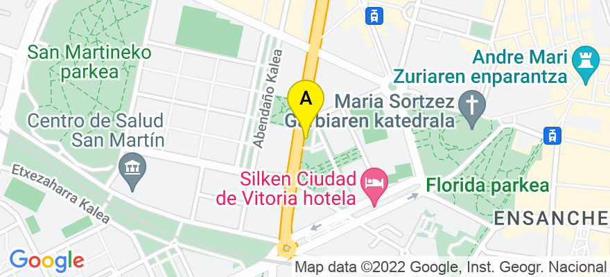 situacion en el mapa de . Direccion: Avenida Gasteiz 22 bis, oficina 5, 01008 Vitoria-Gasteiz. Álava