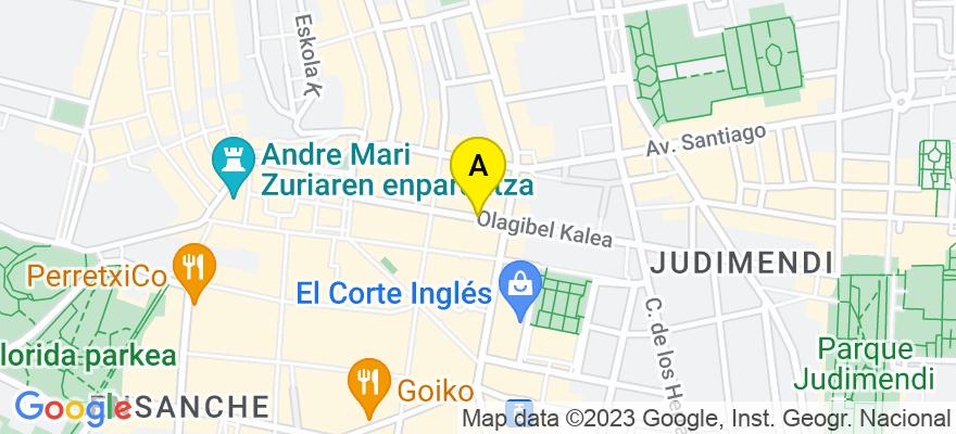 situacion en el mapa de . Direccion: C/ OLAGUIBEL Nº 20 1º, 01004 Vitoria-Gasteiz. Álava