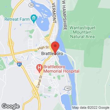 Map of BAYADA Assistive Care - State Programs at 28 Vernon Street, Brattleboro, VT 05301