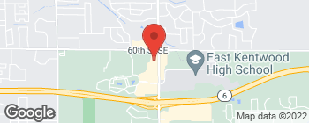 Map of 6101 Kalamazoo Ave SE in Kentwood