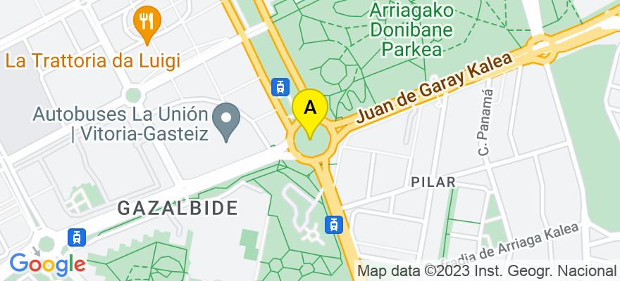 situacion en el mapa de . Direccion: C/Lascaray nº 6 bis Of. 9, 01008 Vitoria-Gasteiz. Álava