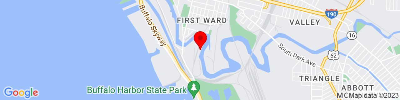 Google Map of 42.8607273, -78.8627193