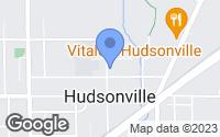 Map of Hudsonville, MI