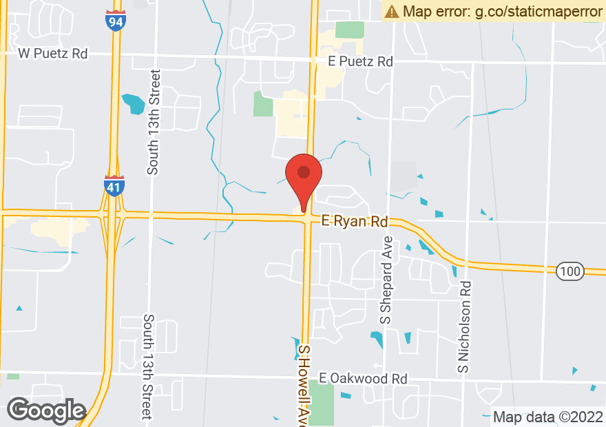 Google Map of 9449 S HOWELL AVE