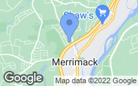 Map of Merrimack, NH