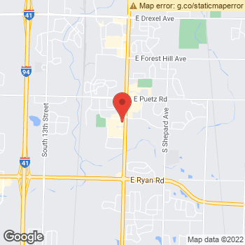 Map of Dr. Kathryn Mueller, Optometrist, and Associates - Oak Creek Family Eyecare - Dr. Facchiano & Associates at 8907 S Howell Ave, Oak Creek, WI 53154