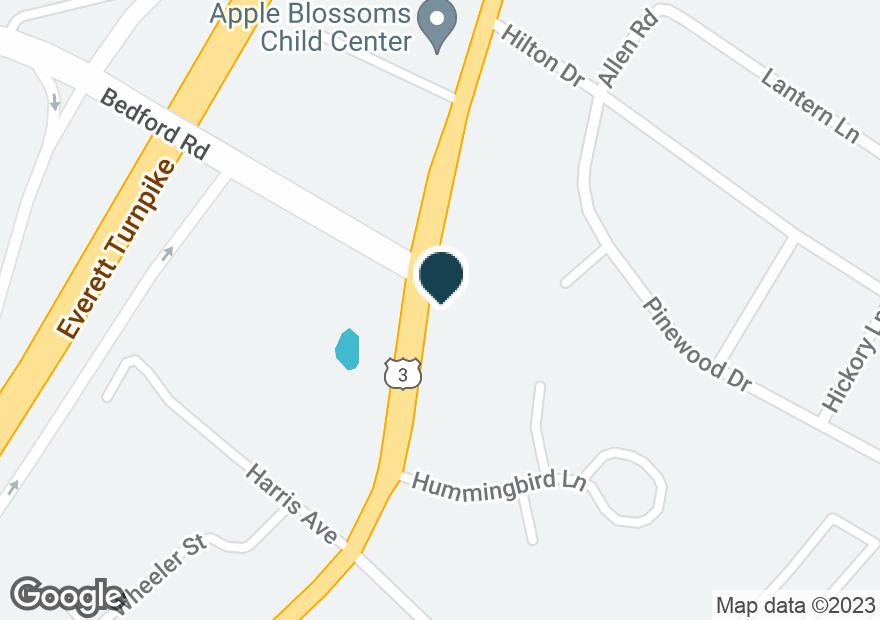 Google Map of615 DANIEL WEBSTER HWY