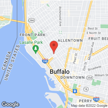 Map of Rite Aid at 350 Niagara Street, Buffalo, NY 14201