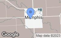 Map of Memphis, MI