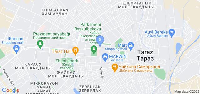 Location of Zhambyl on map
