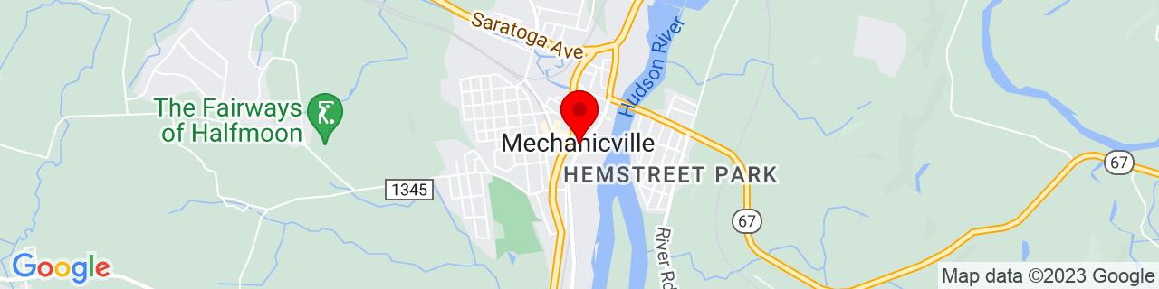 Google Map of 42.90277777777778, -73.68722222222223