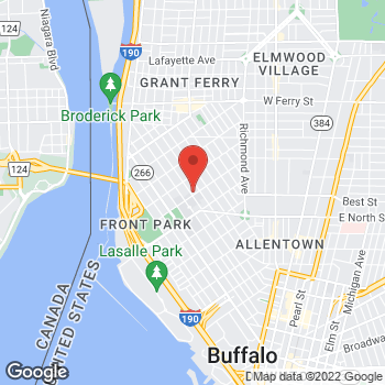 Map of Rite Aid at 284 Connecticut Street, Buffalo, NY 14213