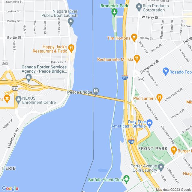 Map of Peace Bridge