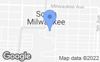Map of South Milwaukee, WI