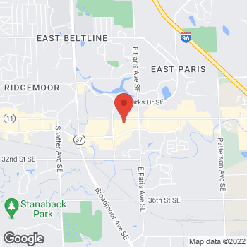 Map of Pizza Ranch at 3858 28th St. SE, Kentwood, MI 49512