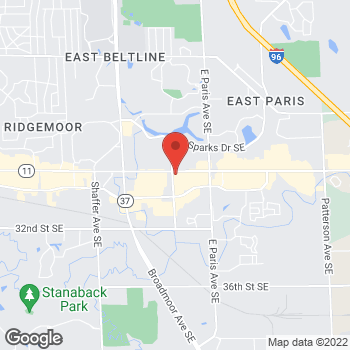 Map of Panera Bread at 3770 28th Street SE, Kentwood, MI 49512