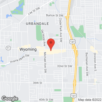 Map of Citi Trends at 1058 28th St SW, Wyoming, MI 49509