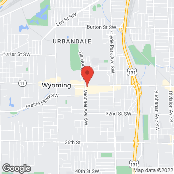 Map of Fifth Third Mortgage - Veronica Packer at 2828 Michael SW, Wyoming, MI 49509