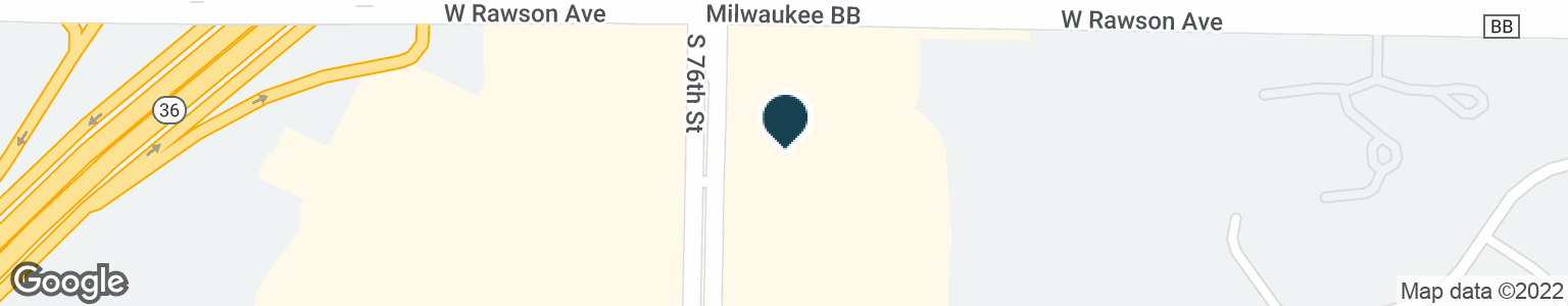 Google Map of7130 S 76TH ST