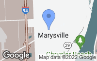Map of Marysville, MI