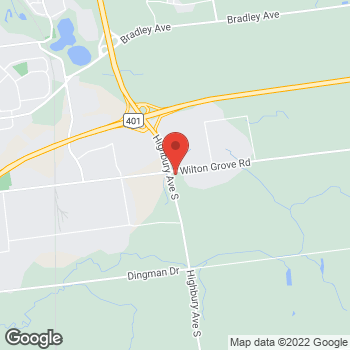 Map of Tim Hortons at 1445 Wilton Grove Rd, London, ON N6N 1M3