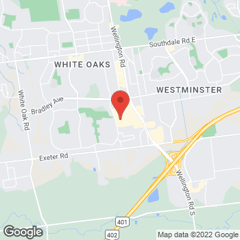 Map of LensCrafters at 1105 Wellington Road South, London, ON N6E 1V4