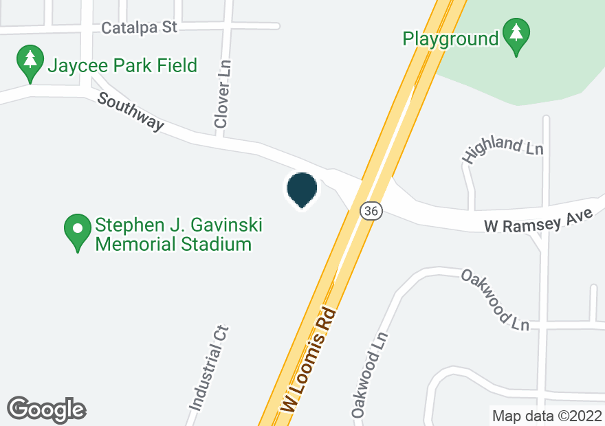 Google Map of6210 W LOOMIS RD