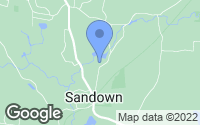Map of Sandown, NH
