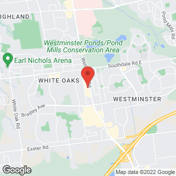 Map of Burger King at 1001 Wellington Rd South, London, ON N6E 1W4