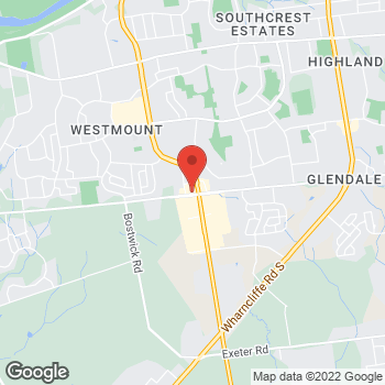 Map of Tim Hortons at 1061 Wonderland Rd South, London, ON N6K 3X4