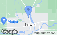 Map of Lowell, MI